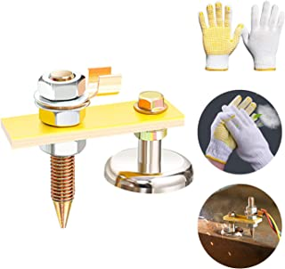 New Welding Magnet Head, Magnetic Welding Support, Copper Tail Welding Stability Clamps, Strong Magnetism Large Suction, Absorbable Weight 3KG (1Pack Single Head)