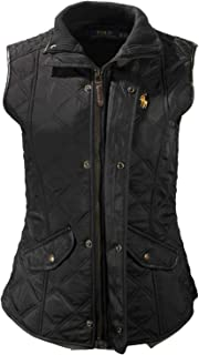 Polo Ralph Lauren Womens Quilted Vest Full Zip Pockets Spring 2021