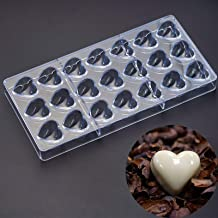 Polycarbonate Chocolate Mold, Sweet Candy DIY Mold 21 Mini Heart Shaped Clear Plastic PC Handmade Chocolate Making Mold Pa...