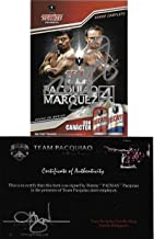 Manny Pacquiao Marquez 4 Tecate Beer Signed Auto Card Team Pacman COA - Autographed Boxing Cards