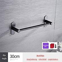 ZLDM Sin Taladro Negro toalleros baño Espesar Espacio de Aluminio Uno Cuerpo Multi-Barra Barra de Toalla 30cm Montado en la Pared toallero Barra para Cuarto de baño La Cocina Hotel etc
