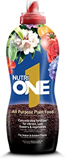 NutriONE 710100A All Purpose Food for Indoor & Outdoor Plants, Flowers & Vegetable, 33.8 Oz, Concentrate