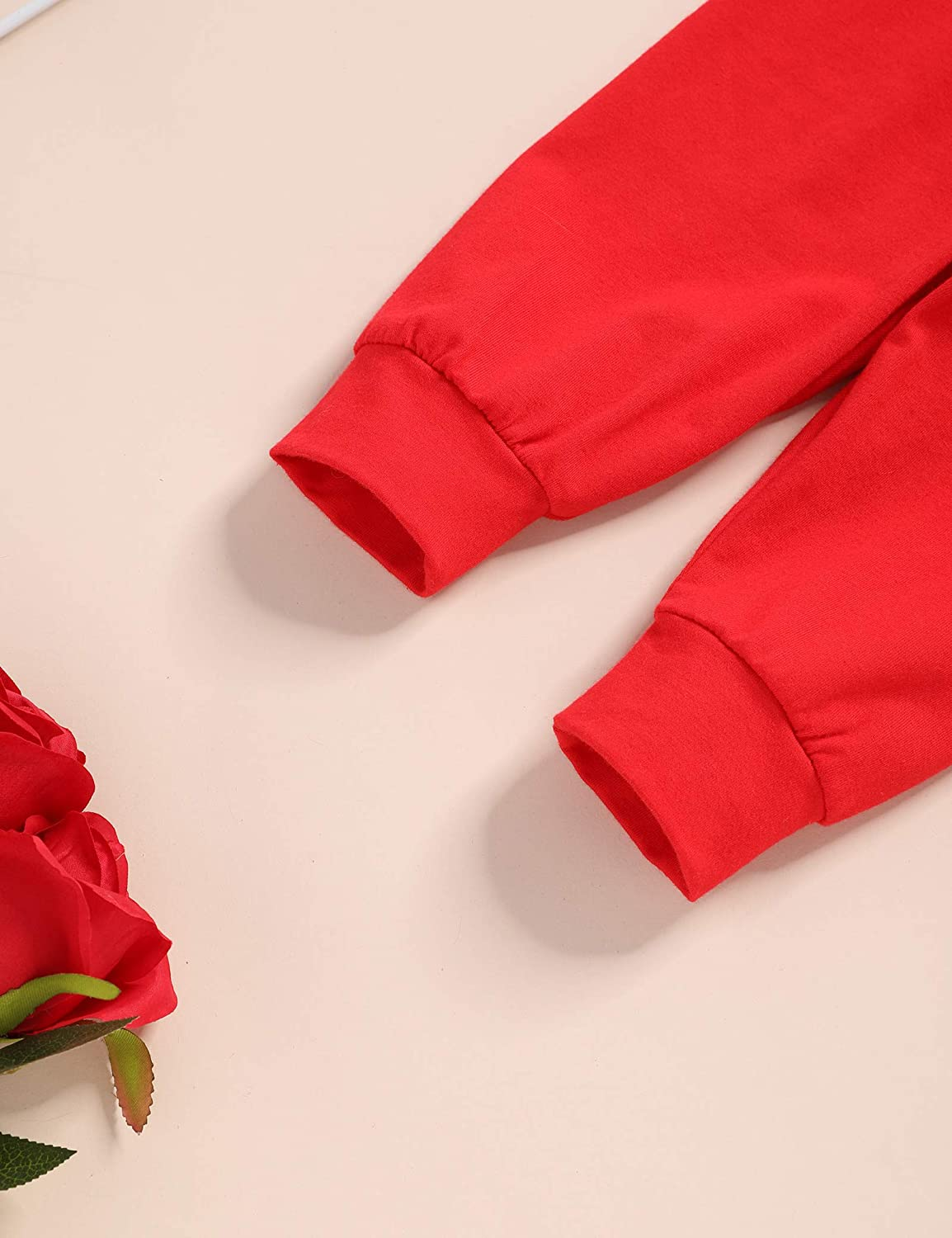 My First Valentine Day Outfit Baby Boy Romper Red Pants First Valentine Clothes Sets