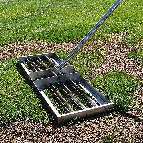 HTDHS Strumento a Livello di Prato in Acciaio Inox da Golf con Manico, Adatto per i campi da Golf da Giardino