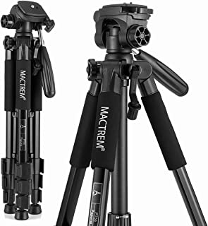 Mactrem PT55 Travel Camera Tripod Lightweight Aluminum for DSLR SLR Canon Nikon Sony Olympus DV with Carry Bag -11 lbs(5kg...