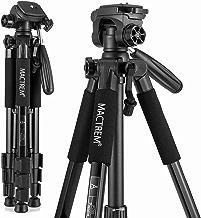 MACTREM M-PT55-Bk PT55 Travel Camera Tripod Lightweight Aluminum for DSLR SLR Canon Nikon Sony Olympus DV with Carry Bag -11 Lbs(5Kg) Load (Black)