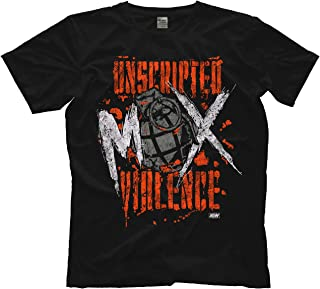 Licensed Jon Moxley Unscripted Violence AEW All Elite Wrestling Adult T-Shirt