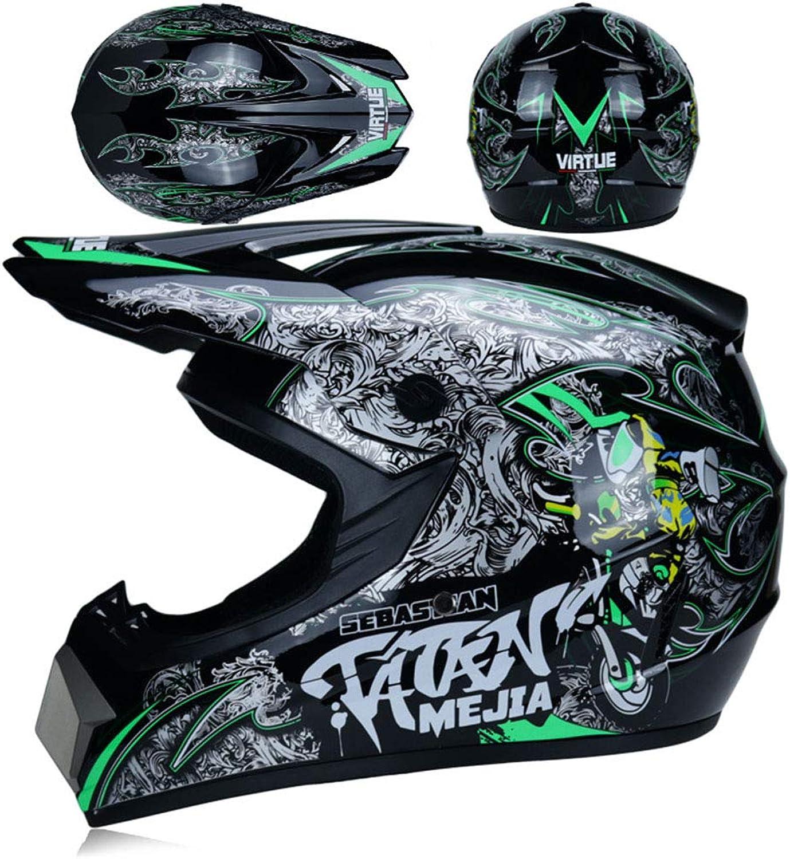 Adult Motocross-Helm ATV Helm D.O.T Standard Rock Star mit Brille und Handschuhe Winddichte Maske (S, M, L, XL),Blau,L B07L5LXTSZ  Erschwinglich