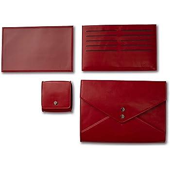 4点set 母子手帳ケース (RED)qliff/ 47都道府県母子手帳サイズ対応