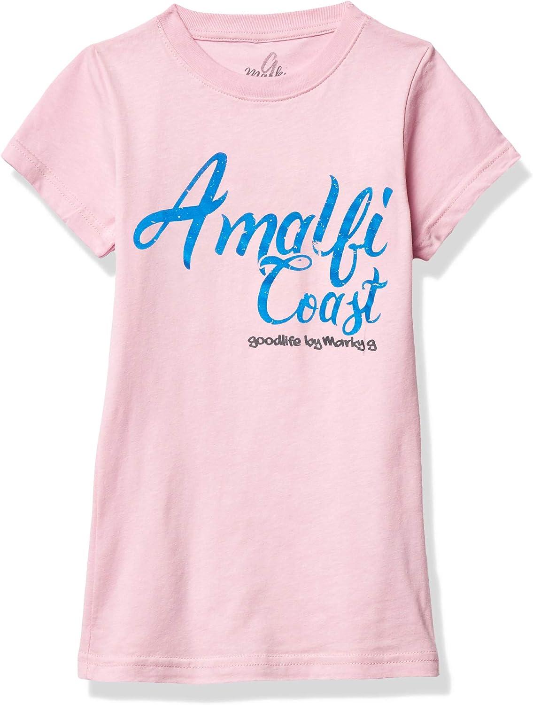 Marky G Apparel Girls' Printed Amalfi Coast Graphic Fine Jersey T-Shirt