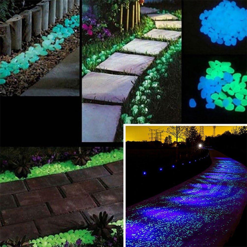 100 pierres galets d/écoratifs lumineux qui brillent dans le noir pour d/écoration daquarium jardin