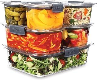 Sistema Piece Food Storage Brilliance Lot de 6 boîtes de Conservation avec couvercles, Noir