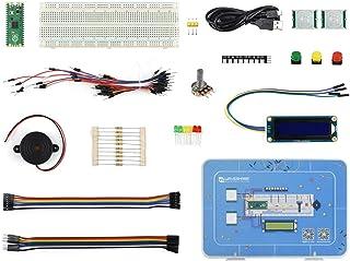 waveshare Raspberry Pi Pico Basic Starter Kit, MicroPython Programming Learning Kit with Rich Tutorials, Includes Raspberr...