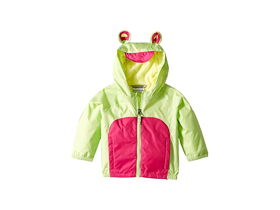 Columbia Kids Kitteribbittm Fleece Lined Rain Jacket (Infant/Toddler) (Jade Lime/Haute Pink/Sunnyside) Girl