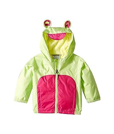 Columbia Kids Kitteribbittm Fleece Lined Rain Jacket (Infant/Toddler) (Jade Lime/Haute Pink/Sunnyside) Girl