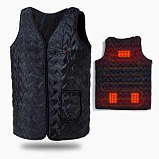 Vinmori Heated Vest, Washable Size Adjustable USB Charging Heated Clothing (Battery Not Included)