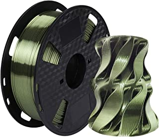 Kehuashina Silk Green Bronze PLA Filament 1.75mm 3D Printer Filament, Metal Metallic Color Gradient Filament 1KG (2.2LBS) ...