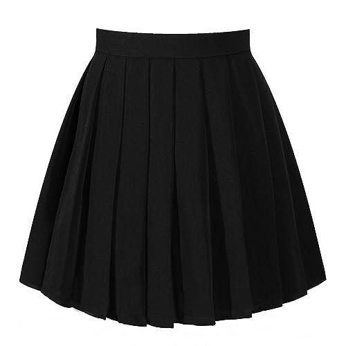 Black Pleated School Skirt Amazon
