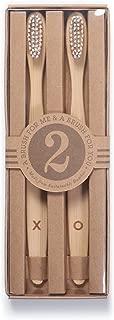 Izola Bamboo Toothbrush Sets with Soft Nylon Bristles - XO Set of 2