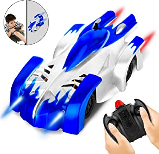 AOKESI Remote Control Car Wall Climbing for Kids Dual Mode Climbing Car Rechargeable 360°Rotating Stunt, Air Climbing RC Car with Powerful LED Lights Ideal Kids Gift Age for 6 Years Old or Older