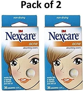 Nexcare Acne Absorbing Covers, Assorted 36 ea (Pack of 2)