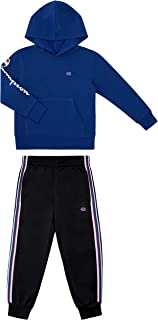 Champion Boys Two Piece Athletic Fleece Top Tricot Bottom Set Kids Clothes