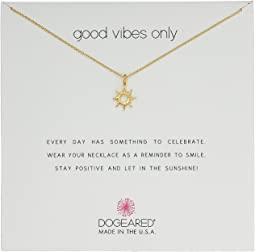 Dogeared Good Vibes Only, Radient Sun Pendent Necklace