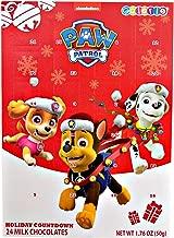 Paw Patrol 2019 Christmas Holiday Countdown Calendar with 24 Milk Chocolate, 1.76 oz