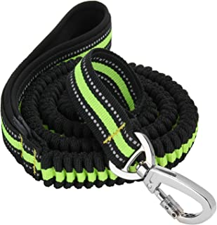 Reflective Dog Leash, FMJI Elastic Bungee Pet Leash Rubber Band Dog Traction Rope with Control Handle (4.3-6.9 Feet)