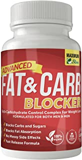 Maximum Slim Fat & Carb Blocker Pure Kidney Bean Extract for Weight Loss and Appetite Suppressant, 1600mg Per Serving. Rec...