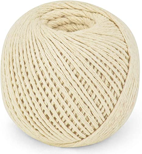 SteadMax 100/% Natural Cotton Twine Total of 950 ft Gift Wrapping Rope Durable Arts and Craft String for Decorations Easy Dispensing 2 Pack of 475 ft Bundling and Gardening