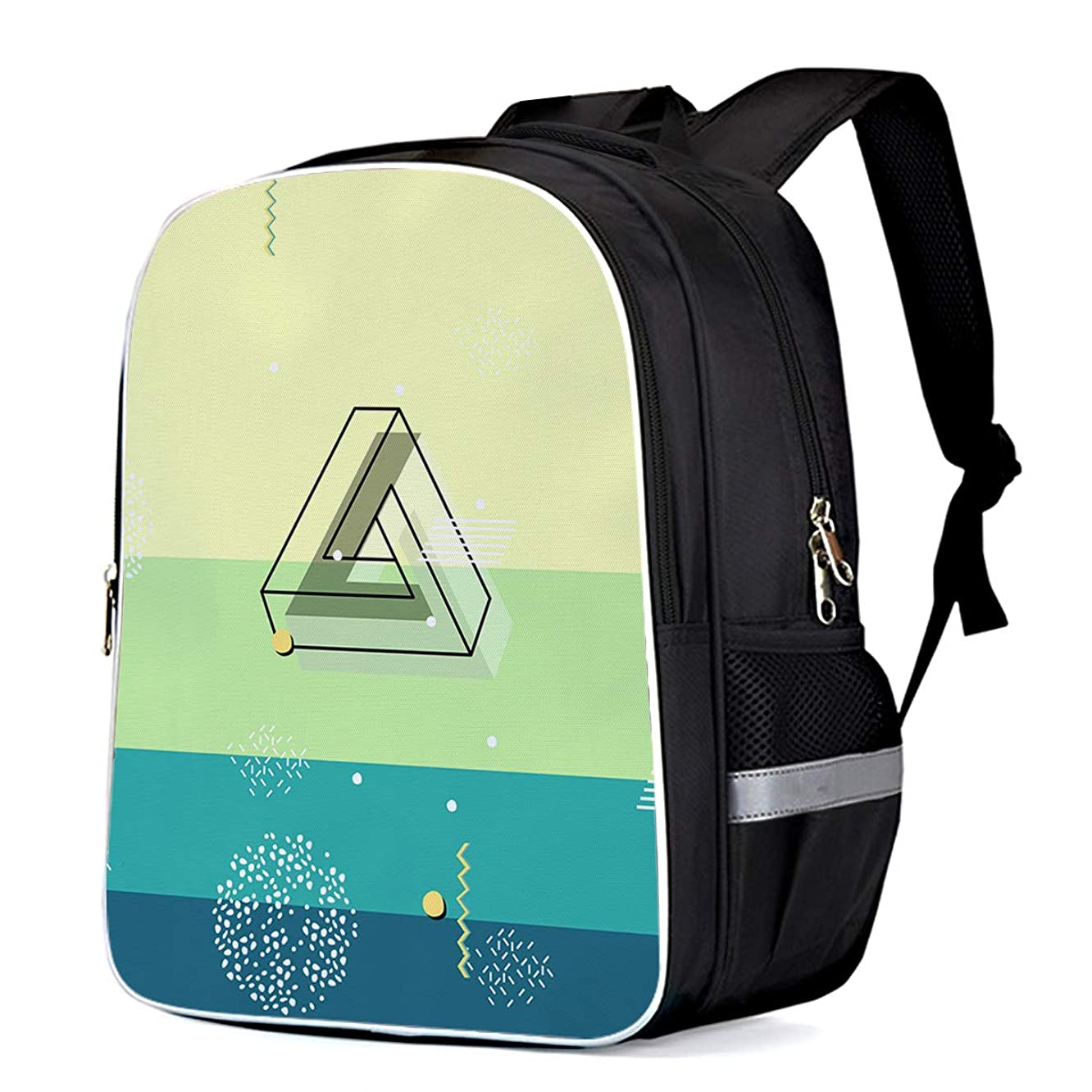 Penrose triangle Print Durable Casual Backpack Back to School Book Bag