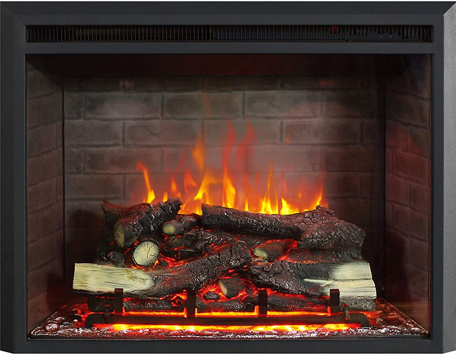 RICHFLAME 20 Inches, 20 Inches High, Gavin Electric Fireplace Insert with  Simulation Brick Interior, Fire Crackling Sound, Remote Control, 20/20W,  ...