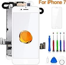 FLYLINKTECH Pantalla para iPhone 7 4.7 '',Táctil LCD de Repuesto Ensamblaje de Marco Digitalizador,cámara Frontal,Sensor de proximidad,Altavoz y Herramientas (Blanco)