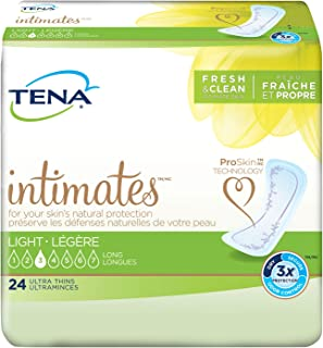 Tena Intimates Ultra Thin Light Incontinence Pad Long, 24 Count