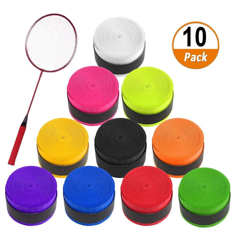 Cinta de Agarre de Tenis 10PCS Raqueta de Tenis Grip Tape para ...
