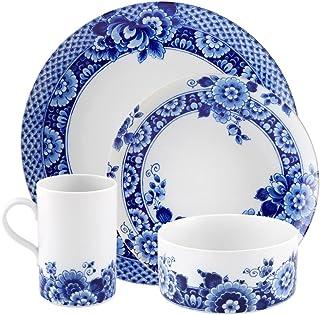 Vista Alegre Porcelain Blue Ming 16 Piece Dinnerware Set