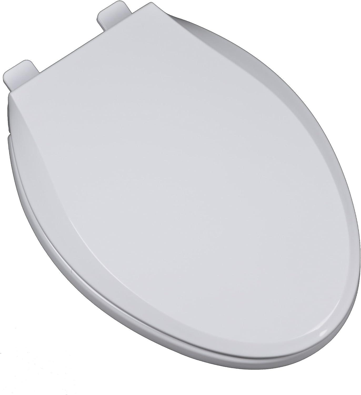 Bath Décor 2F1E10-00 Heavy Duty Direct store Seat quality assurance Toilet WHITE Plastic