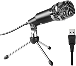 FIFINE USB Microphone, Plug and Play Home Studio USB Condenser Microphone for Skype, Recordings for YouTube, Google Voice ...