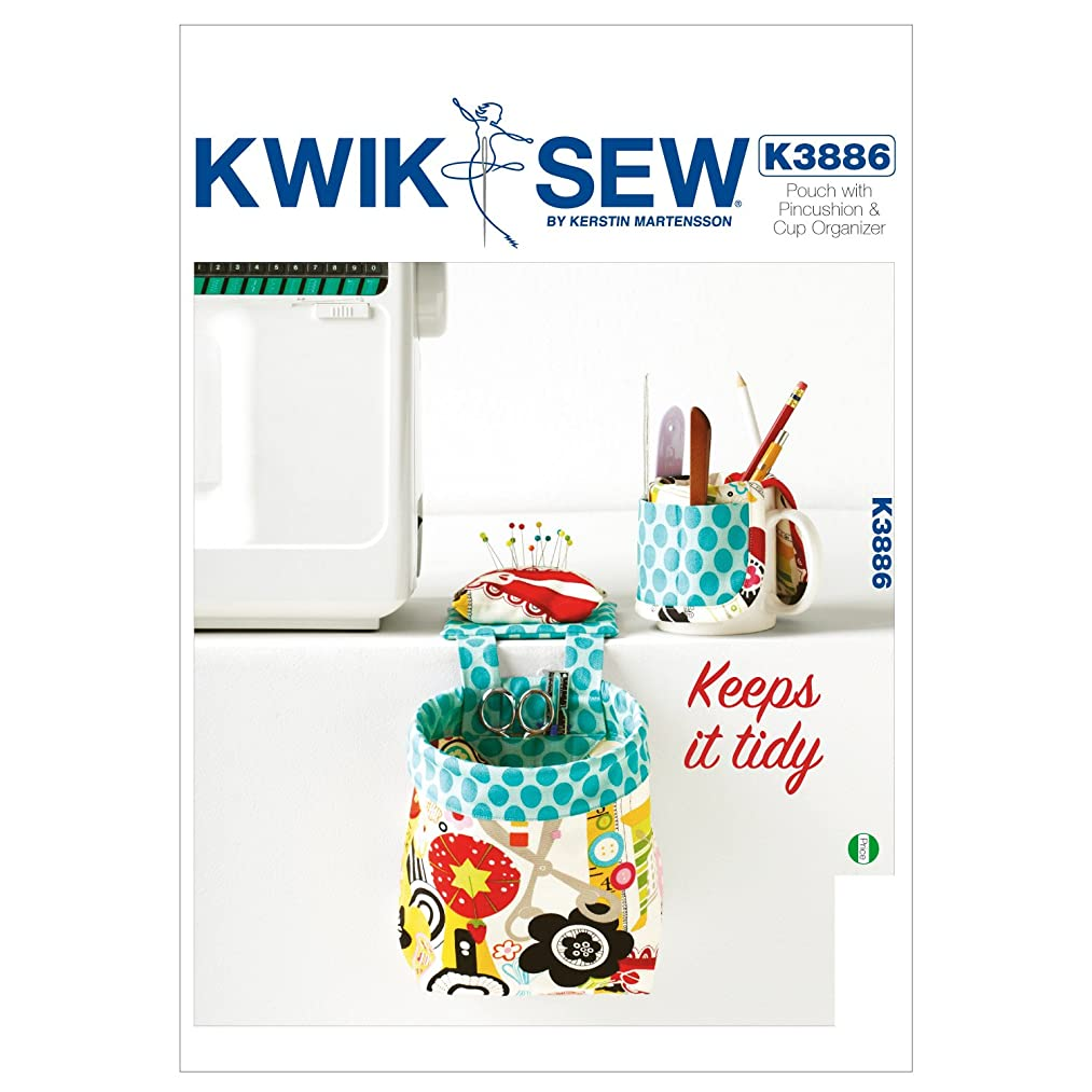 Kwik Sew K3886 Pouch with Pincushion and Cup Organizer Sewing Pattern, No Size