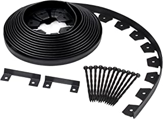 Dimex EdgePro Plastic Heavy Duty No-Dig Landscape Edging Kit, 40ft coil each, Pack of 6 (3100-40C-6)