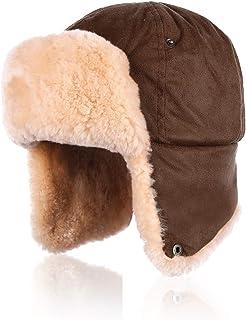 ITODA Kids Teens Inverno Ear Flap Bomber Hat Caldo Faux Fur Trapper Hat Antivento Respiration Valve Face Mask Thermal Addensare Ski Hat Aviator Hat per Outdoor Snow Skiing Invecchiato 5-15Y