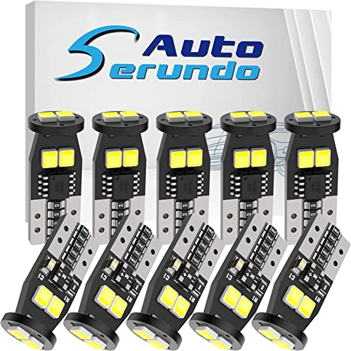 wholesale Serundo Auto 194 LED new arrival Bulb, 168 2825 W5W T10 LED Bulbs for Car 2021 Dome Map Door Courtesy Trunk Parking License Plate Lights,6000K White (Pack of 10) online