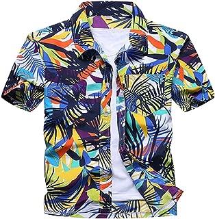 SemiAugust(セミオーガスト)アロハシャツ 総柄シャツ 半袖 涼しい プリントシャツ ハワイ風 カラフル イベント 夏服 通気 吸汗速乾 花柄 おしゃれ ワイシャツ 大きいサイズ メンズ 9柄