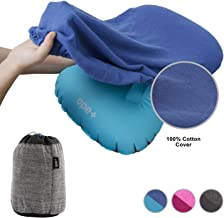 ope+ Inflatable Camping Pillow Set - Camp, Travel, Backpacking Ultralight and Hiking Blow Up Pillow with Outdoor Soft Cotton Cover for Sleeping - Also Suitable as Lumbar Support
