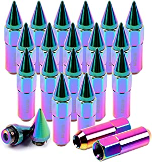 SCITOO 20PCS Colorful Lug Nuts for 3/4