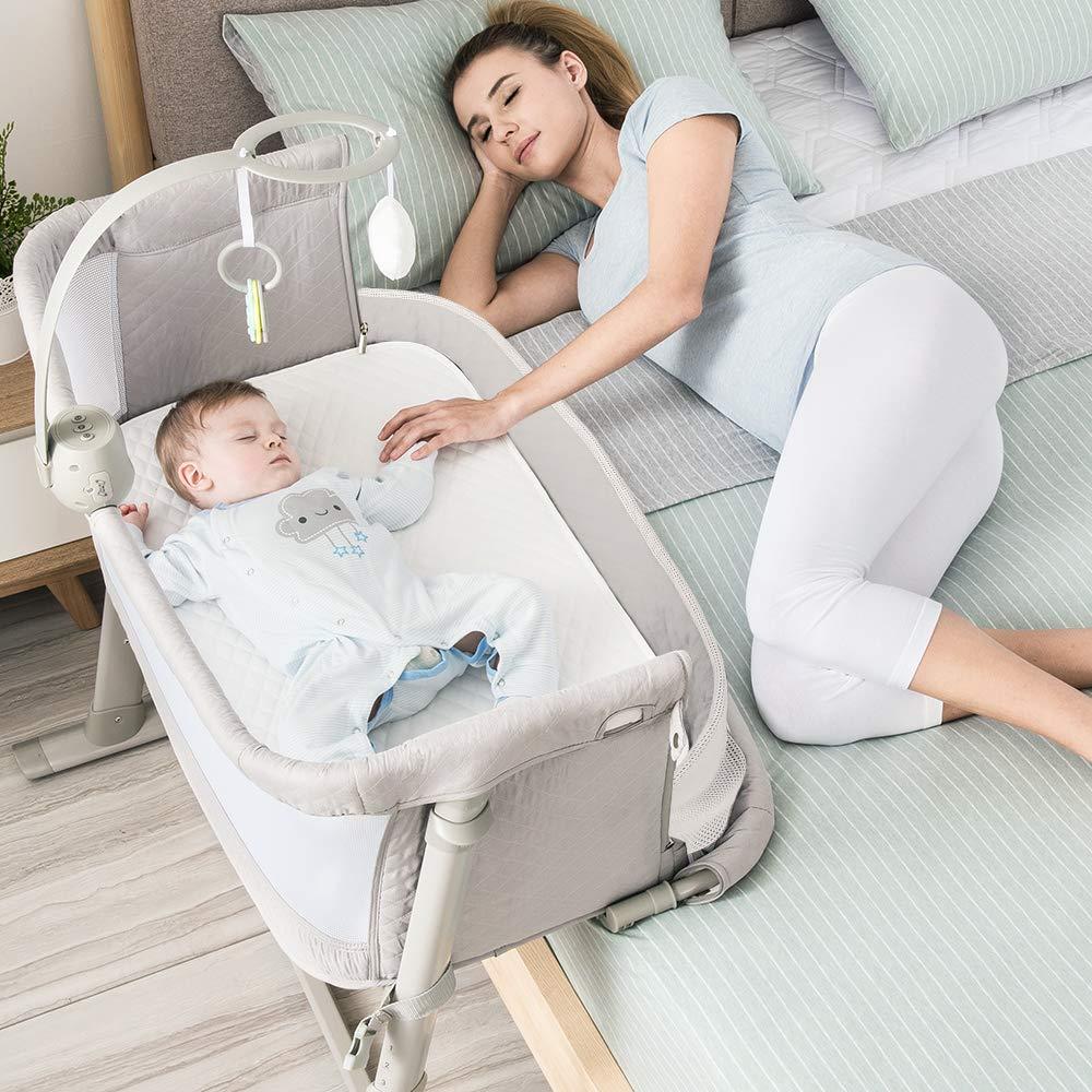 Bassinet RONBEI Bedside Adjustable Portable