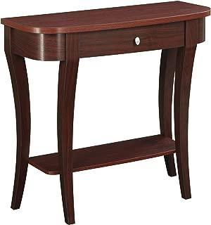 Convenience Concepts Modern Newport Console Table, Mahogany