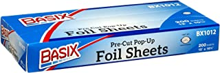 Basix Pre Cut PopUp Foil Sheets 200 Foil Sheets Per Box 12'' x 10'' (1)