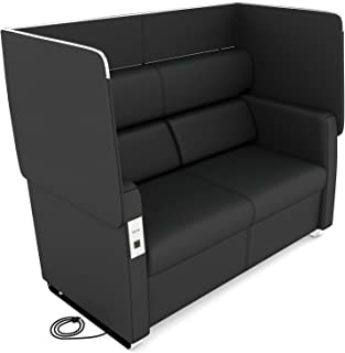 OFM Core Collection Morph Series Soft Seating Sofa, in Midnight (2202-MDN)